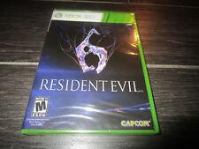 NEW Sealed Resident Evil 6 (Microsoft Xbox 360, 2012)