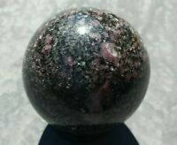 46mm 100% Natural RUBY SPINEL in Matrix Sphere Crystal Stone Reiki Charged 5.7oz