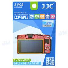 JJC 2PCS LCD Screen Guard Protector Film For Olympus E-PL6 E-PL5 E-PM2 Camera