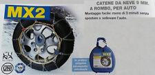 CATENE DA NEVE AUTO 9mm, GOMME 215/50 R16, MONTAGGIO MENO DI 3 MINUTI, OMOLOGATE