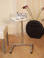 Beistelltisch Höhenverstellbar 50-70 cm Glastisch Tisch Couchtisch