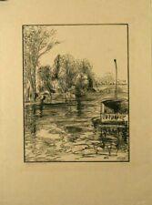 Gravure  sur bois de Perrichon, quai