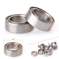 "10x R168ZZ ABEC1 Bearings Thin-wall Deep Groove Ball Bearing 1/4""x3/8""x1/8"""