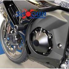 Suzuki 2009-2011 GSXR 1000 Shogun Racing Frame Sliders - CUT Version Black