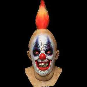 Squancho Scary Clown Full Head & Neck Latex Halloween Mask by Ghoulish