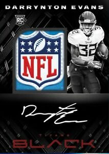 Panini NFL Blitz Darrynton Evans NFL LOGO PATCH BLACK DIGITAL Card
