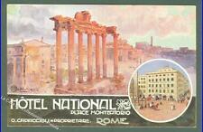 BALLERIO OSVALDO. Hotel National Roma. Cartolina d'epoca non viaggiata.