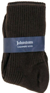 Cashmere Bed Socks by Johnstons of Elgin 100% Cashmere Unisex One Size NWT Brown
