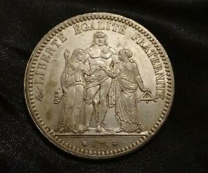 Pièce de 5 Francs Hercule en Argent de 1873 A ( PARIS )
