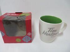 Tim Hortons 2014 Collectible Coffee Mug Green Inside White outside