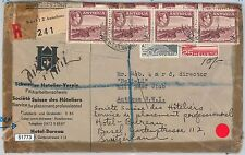 51773  -  ANTIGUA -  POSTAL HISTORY: COVER from and to SWITZERLAND 1953 - NICE!!