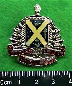 Scotch College Cadet Unit hat badge.