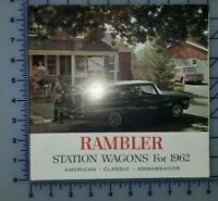 1962 AMC Rambler Station Wagon Brochure Folder