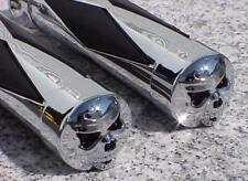 Yamaha V-Star XVS 650 950 1100 1300 Classic Custom Silverado CHROME SKULL GRIPS