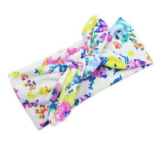 Baby Kids Girl Flower Bow Hairband Turban Knot Rabbit Headband Headwear Good #01
