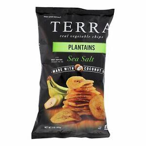 Terra Chips Veggie Chips - Plantains With Sea Salt - Case Of 12 - 5 Oz