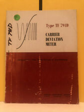 Marconi Om 791d Tf 791d Carrier Deviation Meter Operating Amp Maintenance Manual