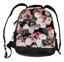 Nine West Taren Velvet Small Backpack Floral Bag Black Multicolor