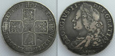 Argento 1746 Re Giorgio II Mezza-CORONA MONETA-LIMA-contro-STAMPATO M