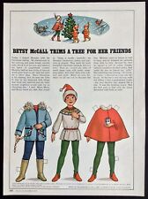 Betsy McCall Mag. Paper Doll, Betsy Trims a Tree for her Friends, Dec. 1979