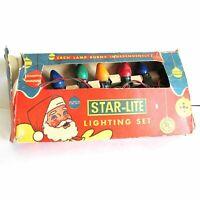 Vintage Star-Lite Indoor Christmas Lighting Set String 7 Bulbs Works Box FREE SH