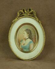 SUPERBE CADRE PORTE PHOTO  EN METAL DORÉ STYLE LOUIS XVI XIXe
