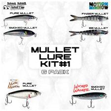#1 Mullet Lure Kit | (6Pcs) | Topwater, Stickbaits, Swimbaits, & Twitchbait