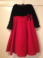 Girls Size 6X Dress Red Black Velvet Christmas Holiday Goodlad Church