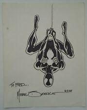 Mike Zeck 1987 Spider-Man Black Costume Signed Original Art Sketch Marvel Comic