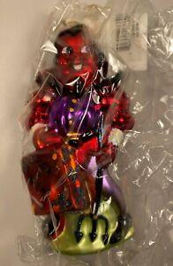 RED DEVIL HALLOWEEN GLASS ORNAMENT by Radko (NEW IN BOX)!