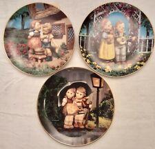 Goebel Hummel Little Companions Collector Plates Danbury Mint - Set of 3