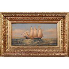 FTN030-SC071-2, Niagara Furniture, Ship at Sail Scene, Oil Painting