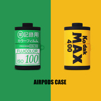 Roll Film Silicone Case Cover For AirPods Pro & 1st 2nd Generation Kodak Fuji