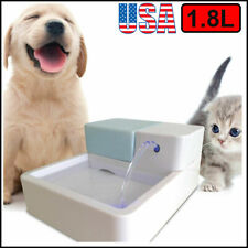 1.8L Automatic Electric Led Pet Water Fountain Dog Cat Birds Drinking Bowl Usa