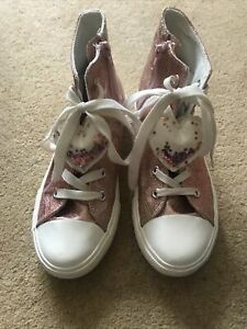 Girls High Top Trainers Size 2