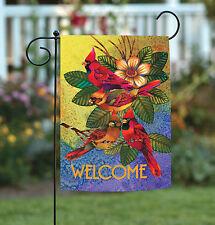 Toland Cardinals and Magnolia 12.5 x 18 Cute Colorful Bird Welcome Garden Flag
