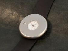 Pierre Junod watch by Mario Botta, stainless steel, quartz, swiss made, white