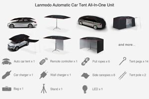 Lanmodo AlI In One Tent Package for Car Umbrella 4.8M Black