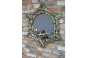 Vintage Distressed Star Etoile Mirror Patina