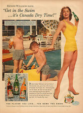 1956 vintage Ad ESther Williams for Canada Dry Looks great in that suit!  020916