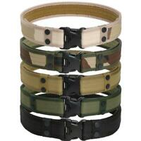 Outdoor Tactical Belt Men's Military Belts Army Canvas Adjustable Waistband