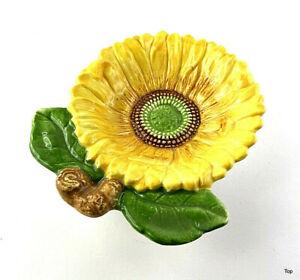 Keramik Sonnenblume Schale Vogeltränke Deko günstig