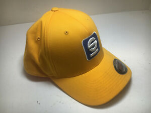 SPARCO Racing Hat FlexFit Yellow Fitted Cap Baseball Style Race Crew S-M  NEW