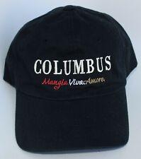 Vtg COLUMBUS SALUMERIA Mangia Viva Amore Delicatessen Baseball Cap Hat One Size