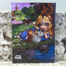 Disney Alice in Wonderland Alice and Dinah Postcard Jasmine Becket-Griffith