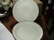 3 x poole parkstone plates + 1 dish speckled oatmeal pattern
