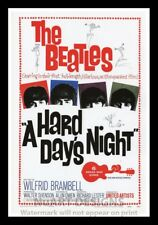 """Framed Vintage Style Rock 'n' Roll Poster """"THE BEATLES -A HARD DAYS NIGHT"""";12x18"""