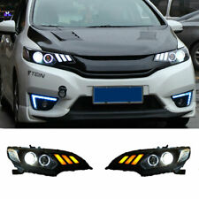 For Honda Fit LED Headlights Projector LED DRL 2014-2018 Replace OEM Headlight