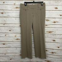 Loft Tan Marisa Trouser Bootcut Career Pants Size 2