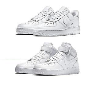Nike AIR FORCE 1 '07 Sneaker Herren Sportschuhe Leder Turnschuhe 315122 111 Weiß